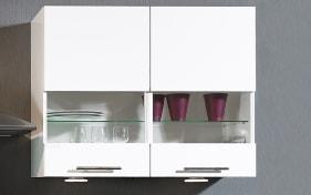 Einbauküche Focus, Lack weiß Ultra-Hochglanz, inklusive Elektrogeräte