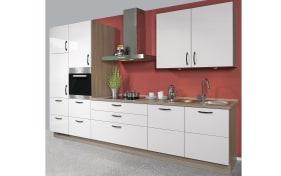 Einbauküche Flash in seidengrau Hochglanz, Leonard-Geschirrspüler LV1527