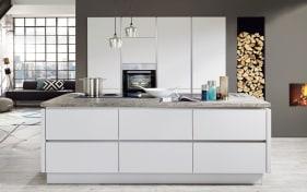Einbauküche Fashion 171 in seidengrau, Siemens-Geschirrspüler SN614X00AE