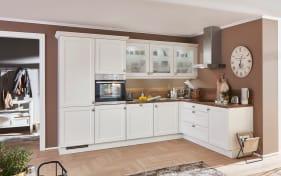 Einbauküche Chalet, Magnolia matt, inklusive Elektrogeräte