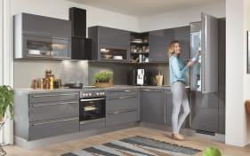 Einbauküche Lux in schiefergrau, inklusive Leonard Elektrogeräte