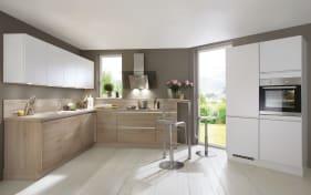 Einbauküche Riva, Eiche San Remo Nachbildung, inklusive Siemens Elektrogeräte