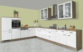 Einbauküche IP 4050, Hochglanz weiß, inklusive Elektrogeräte