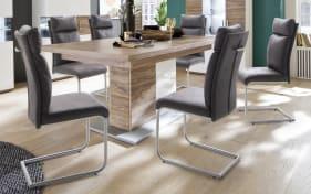 Stuhlgruppe Pia/Luzern in grau/Sterling Oak-Nachbildung