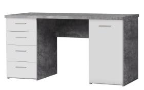 Schreibtisch in Betonoptik