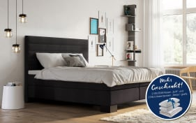 Boxspringbett Linea in anthrazit