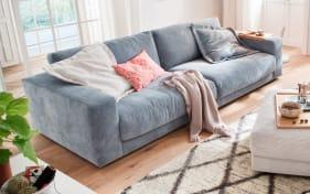Sofa San Francisco in hellblau, mit 84 cm Sitztiefe