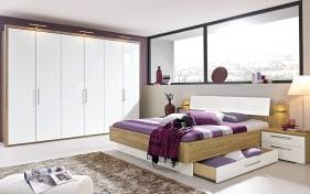 Schlafzimmer Zamaro in weiß/Eiche Volano-Optik