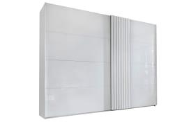 Schwebetürenschrank Tegio in weiß, Breite 280 cm, mit optisch toller Absetzung