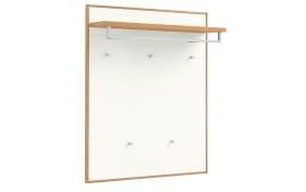 Garderobenpaneel V100 Set 1 in weiß/Eiche bianco