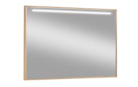 Spiegel V100 mit LED 499 in Eiche bianco, 99 x 75 cm