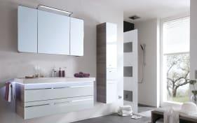 Badeinrichtung Bern in optiwhite Glas-San Remo Eiche Nachbildung