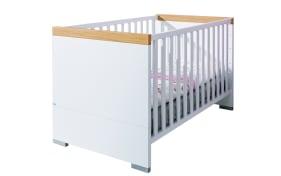 Kinderbett Kira in kreideweiß/Eiche Nebraska-Nachbildung