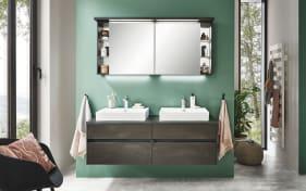 Badeinrichtung Unique in Stahl dunkelfarbig