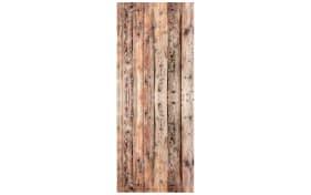 Glasgarderobe mit Holzmotiv, 50 x 125 cm