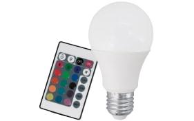LED-Leuchtmittel AGL 6W / E27 RGB inklusive Fernbedienung