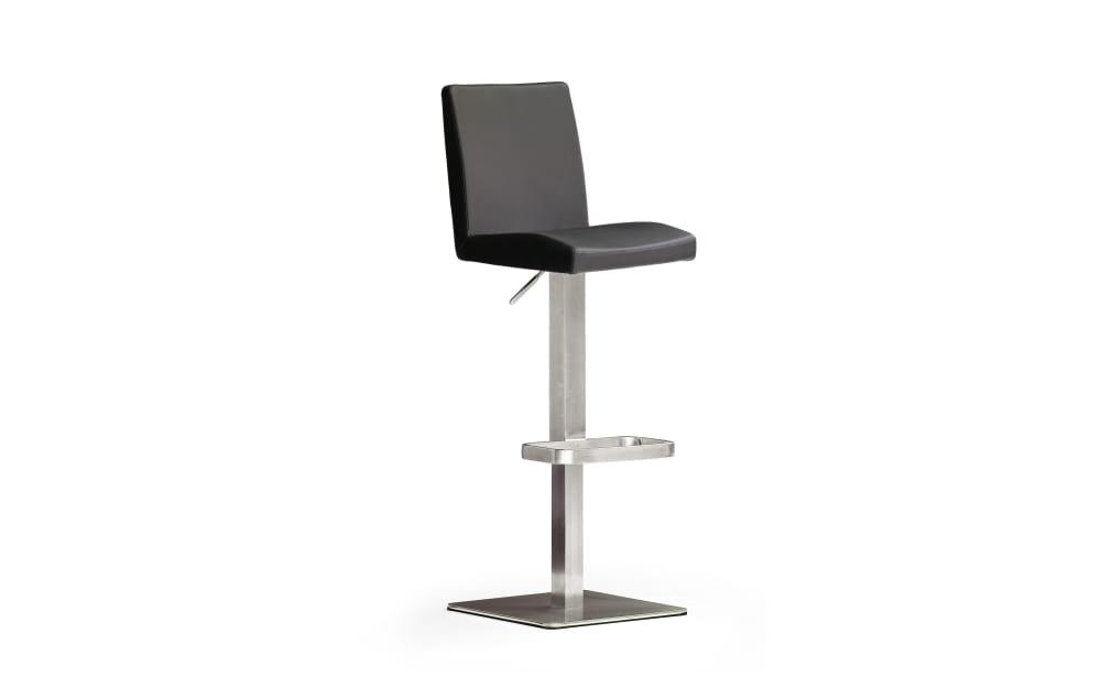 MCA furniture Barhocker Bar.be.cool aus Leder in schwarz