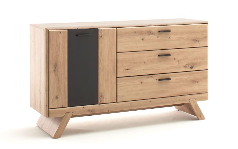 MCA furniture Sideboard Calais in Balkeneiche-Optik/grau