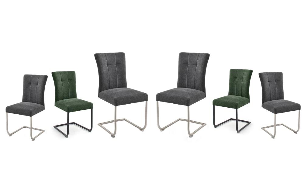 MCA furniture Stuhlgruppe Calanda in anthrazit / olive