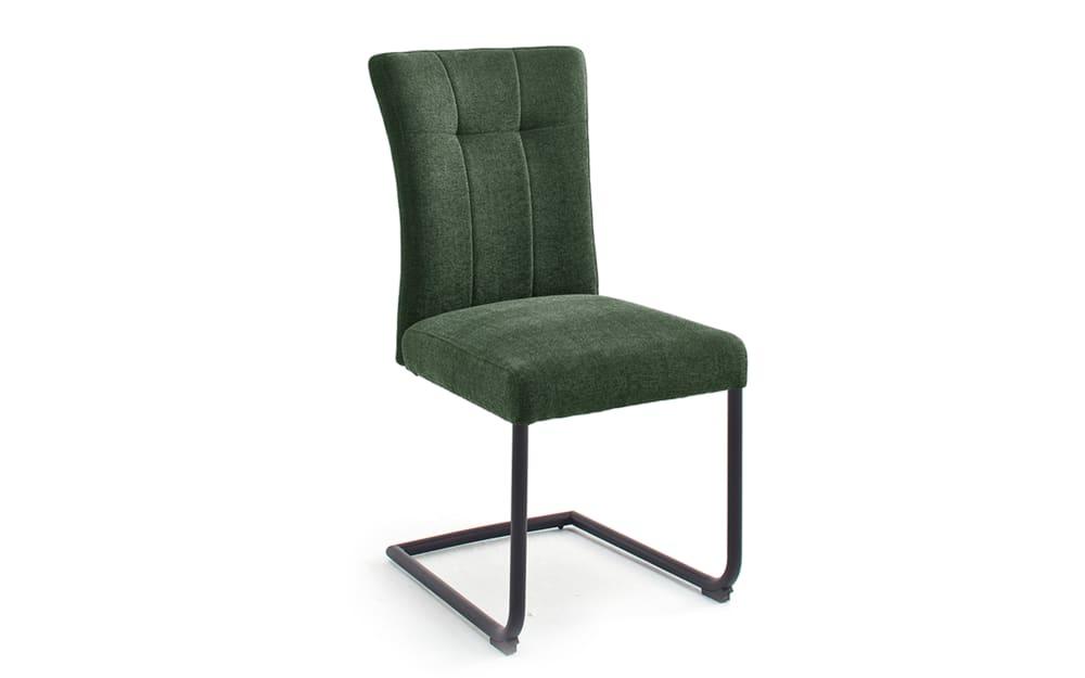 MCA furniture Schwingstuhl Calanda in olive / schwarz matt