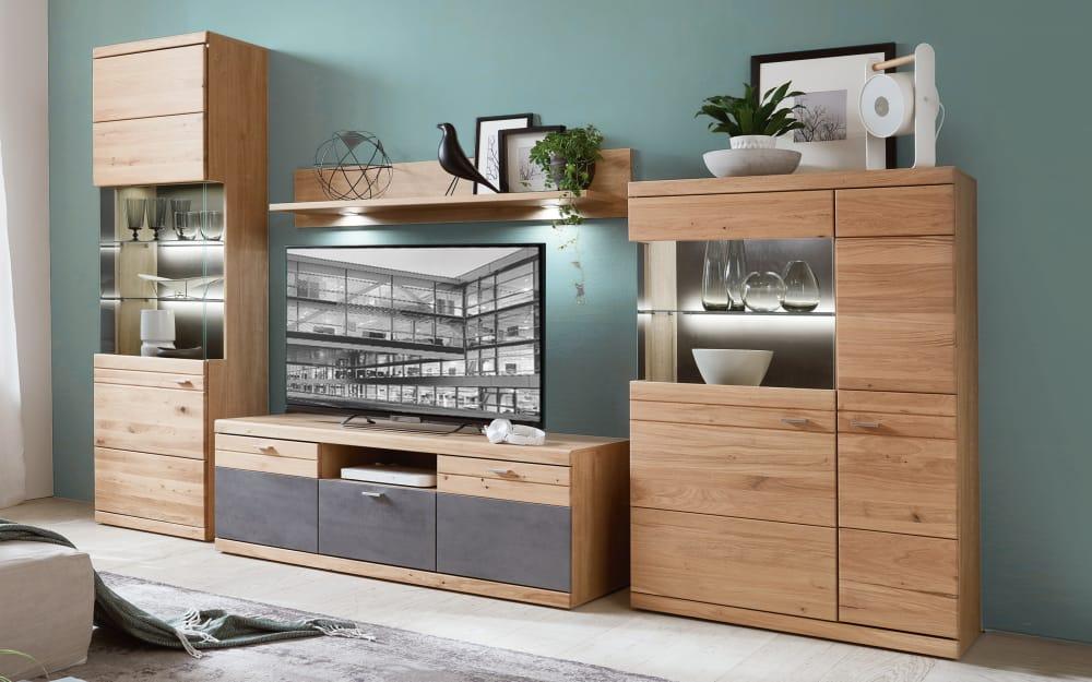 Ideal-Möbel Wohnwand Elena in Alteiche