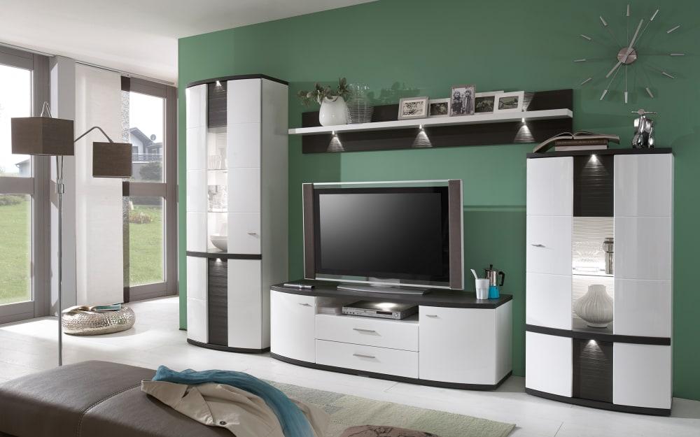 Ideal-Möbel Wohnwand Cabana in weiß/graphit