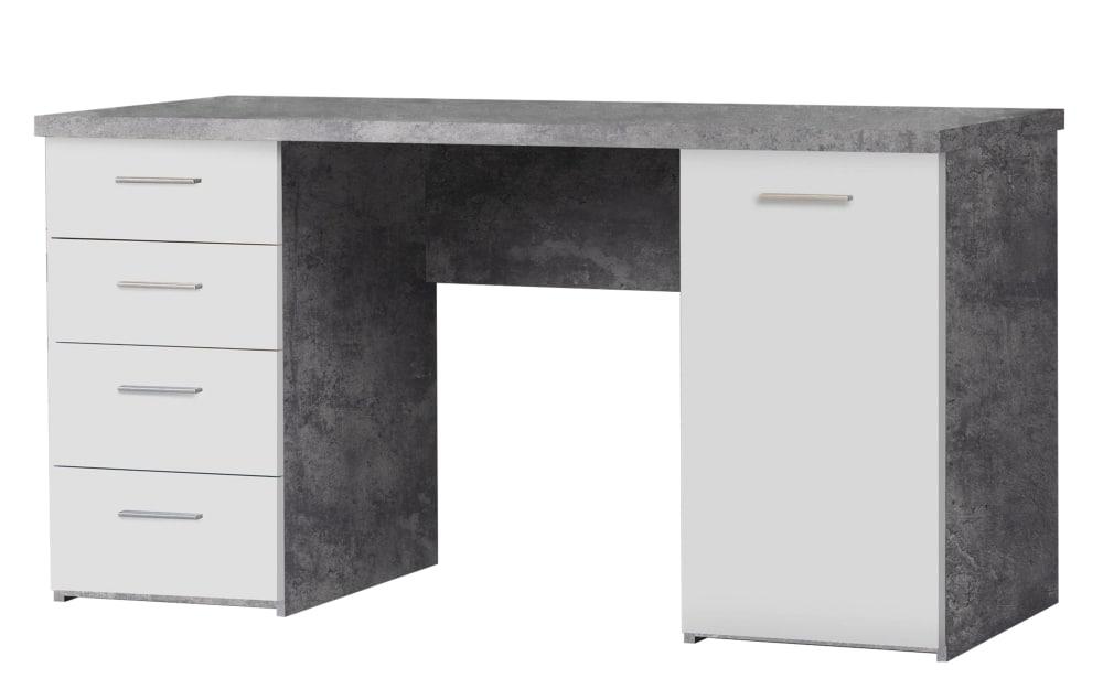 Forte Schreibtisch in Betonoptik