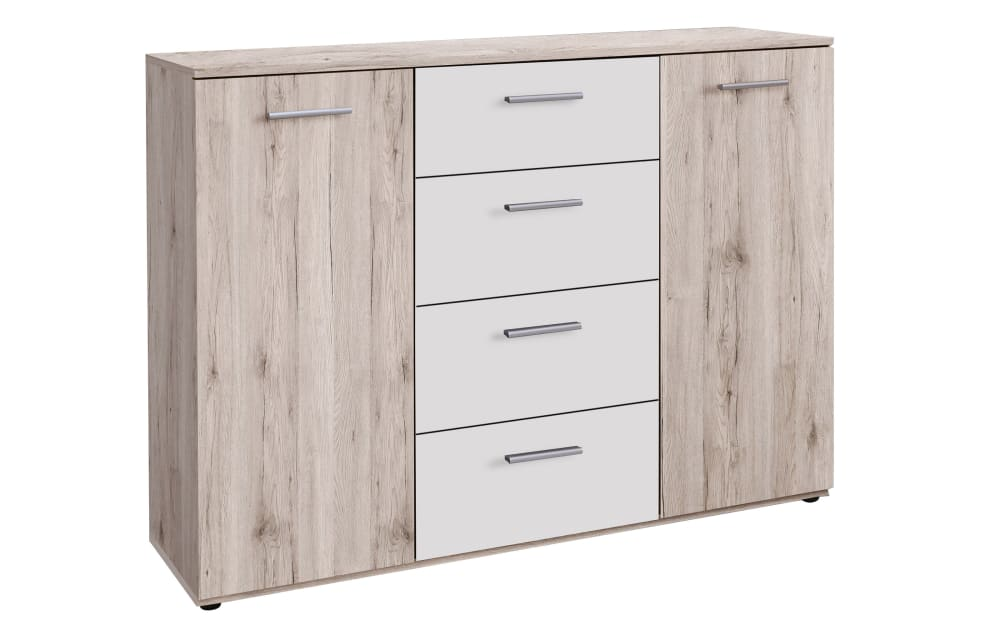 Forte Sideboard Valerie in Sandeiche-Optik/weiss