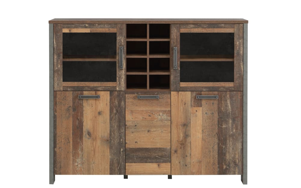 Forte Highboard Clif in Old Wood Vintage-Nachbildung