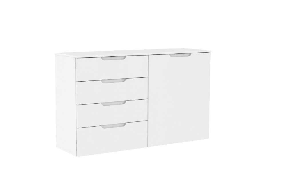 Forte Kommode Sienna in weiß, ca. 110 cm Breit