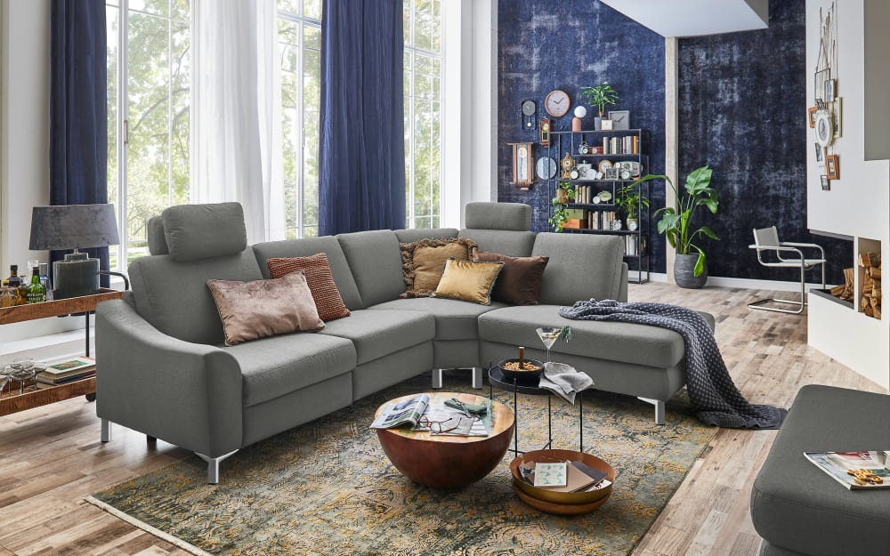 Carina Wohnlandschaft TS 227 Relax in silver, ohne Funktion