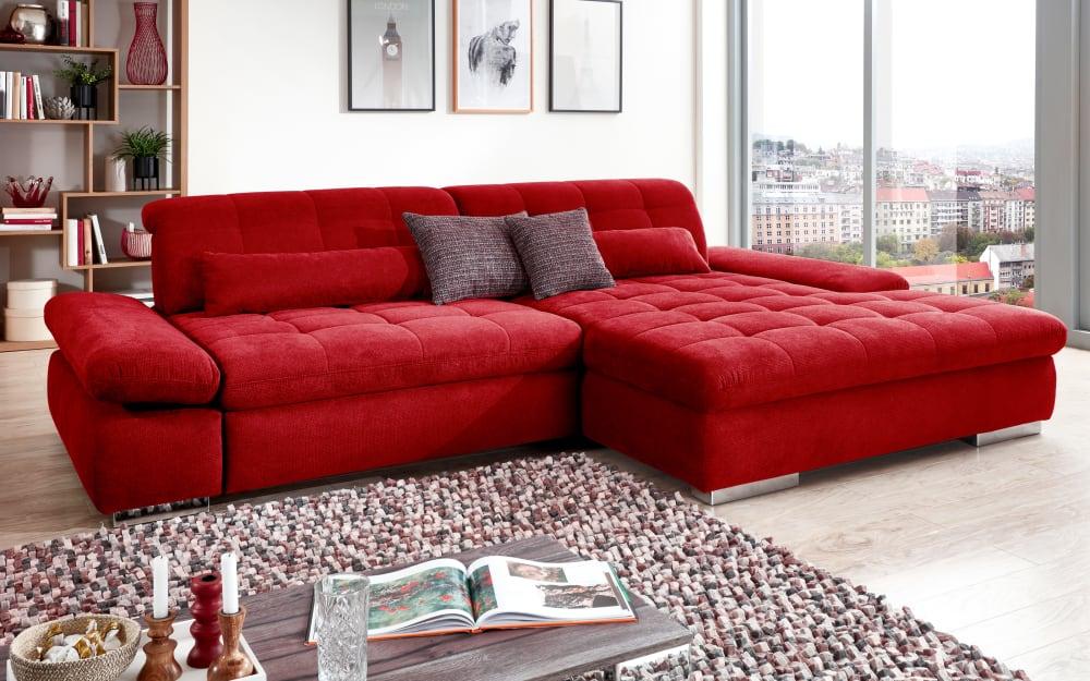 Steinpol PoCo Wohnlandschaft Santa Fe in rot