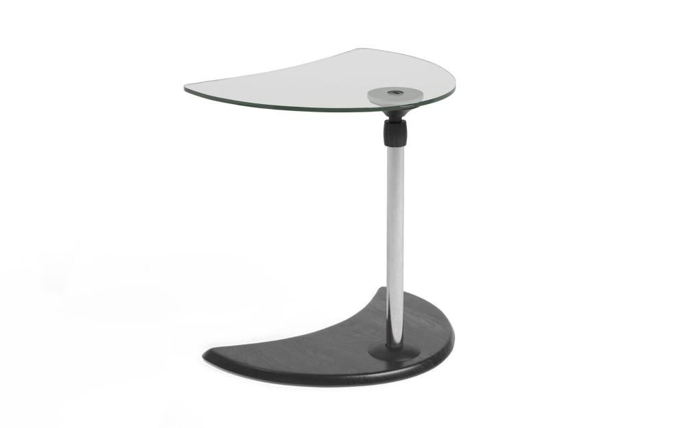 Stressless Beistelltisch USB Tisch A in Buche grau mit Chrom Gestell