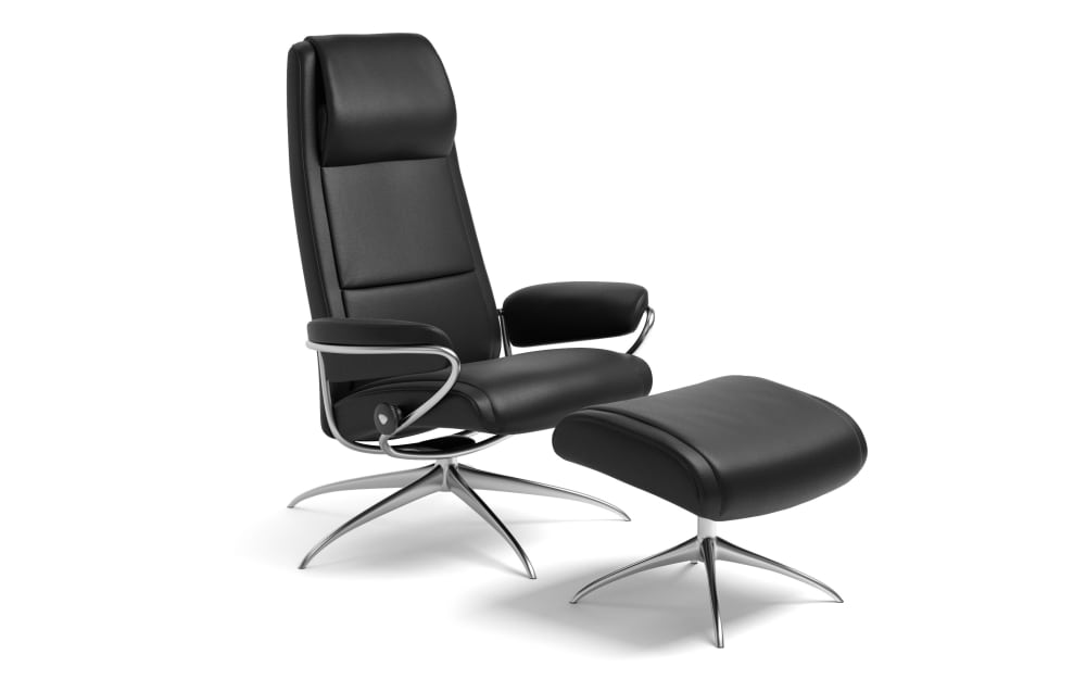 Stressless Relaxsessel Paris High Back (M) in Batick black mit Star Gestell