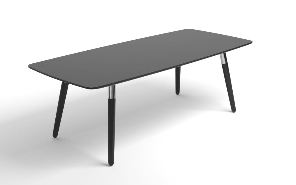 Stressless Couchtisch Style in schwarz mit schwarzen Beinen