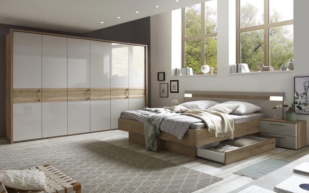 Mondo Schlafzimmer 4033 in Eiche Selia Optik/kristallgrau