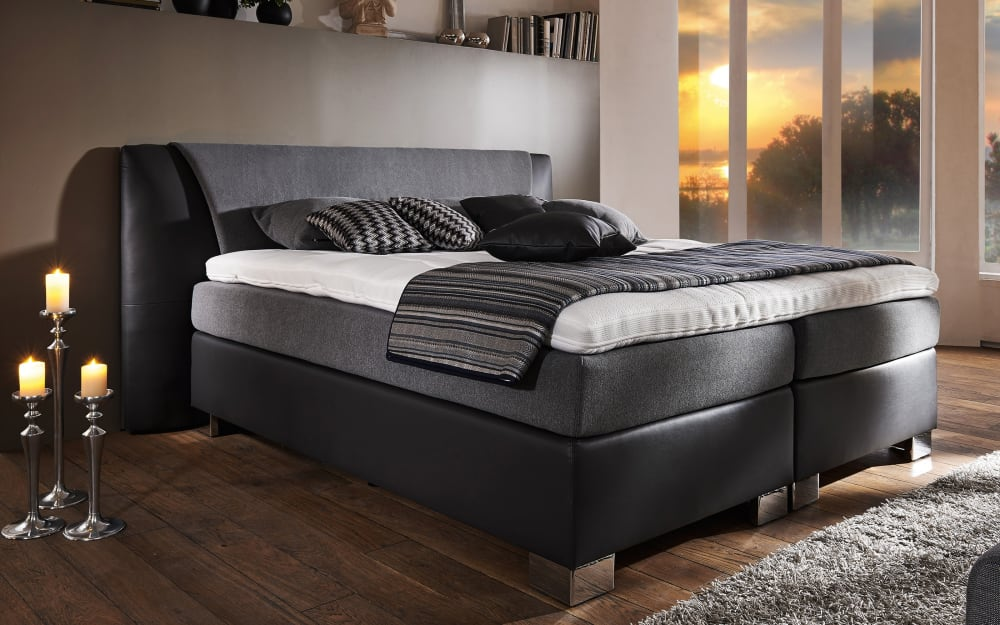 Oschmann Boxspringbett Kingdom in anthrazit/grau