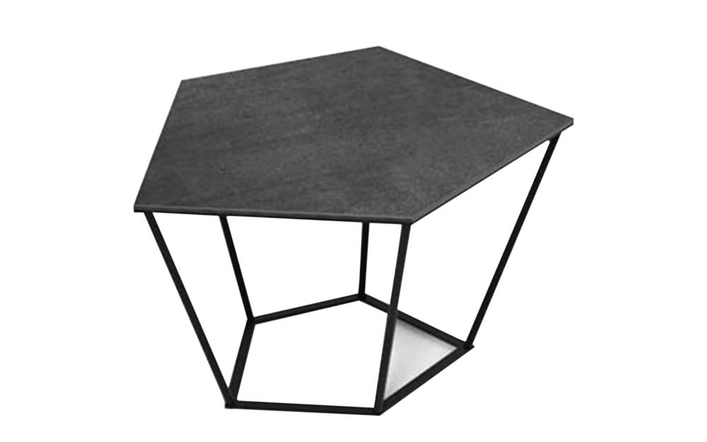 Mondo Couchtisch 6004 I in schwarz / titan, mit Edelstahlgestell