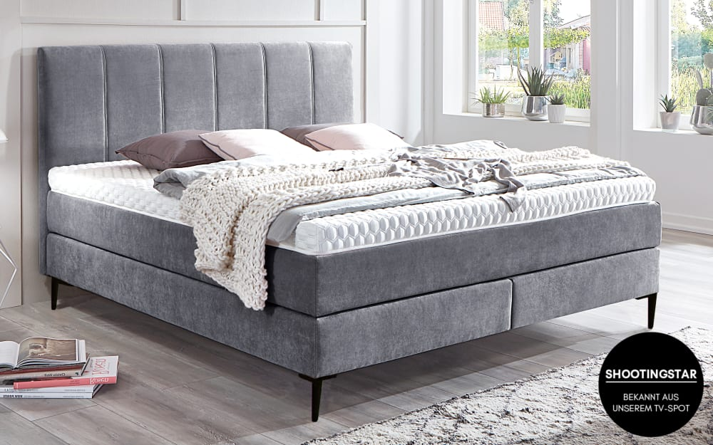 Mondo Boxspringbett 4047 in anthrazit
