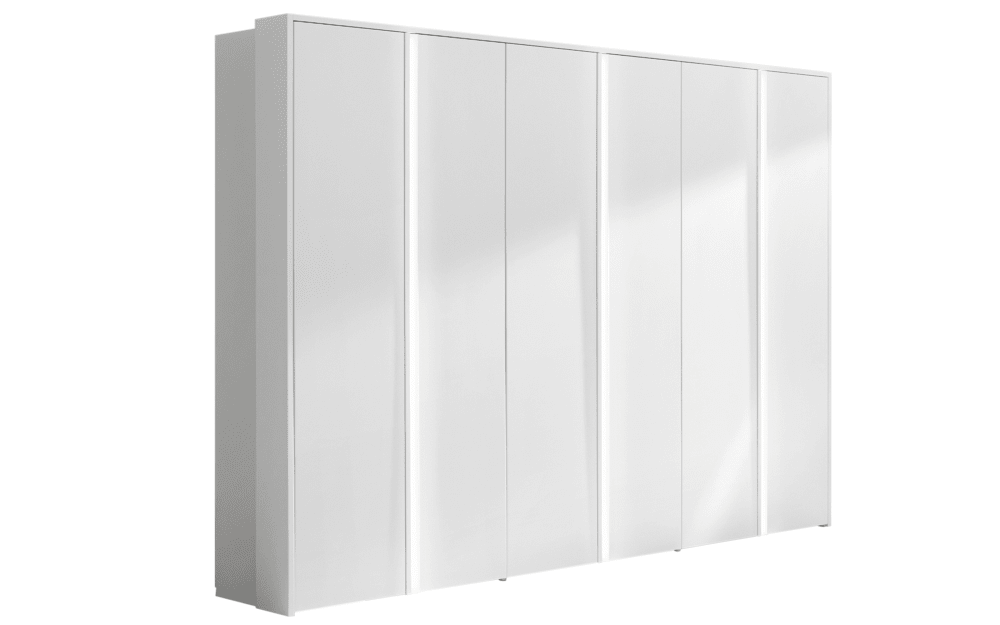 hülsta Falttürenkleiderschrank Multi-Forma in Hochglanz reinweiß
