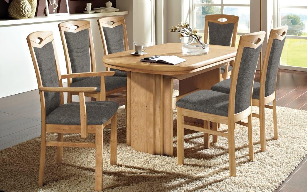 DKK Klose Kollektion Stuhlgruppe Cristal aus Wildeiche/chocolate