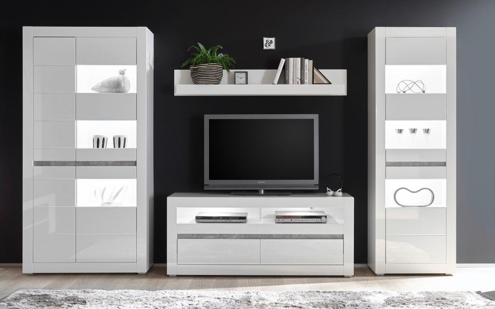 IMV Wohnwand Carat in weiß
