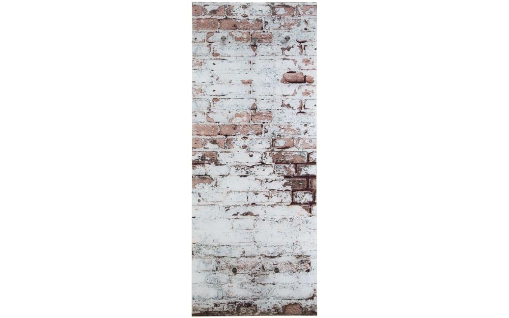 Glasgarderobe Felix mit Mauer-Motiv, 50 x 125 cm