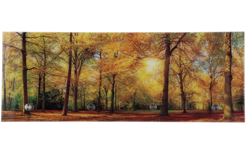 Glasgarderobe Tobi mit Wald-Motiv, 80 x 30 cm