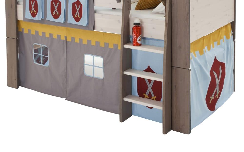 Steens Group A/S Vorhang-Set Steens for Kids Motiv Ritter