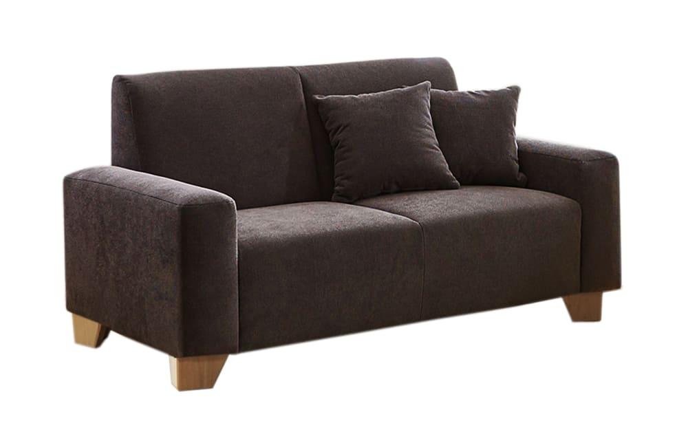 Iwaniccy Sofa 2-Sitzer Julia in braun, mit Federkern-Polsterung und Kissen