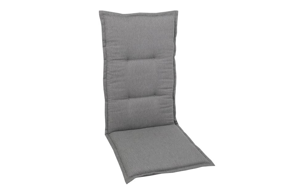 GO-DE Garten-Sesselauflage in grau, Hochlehner