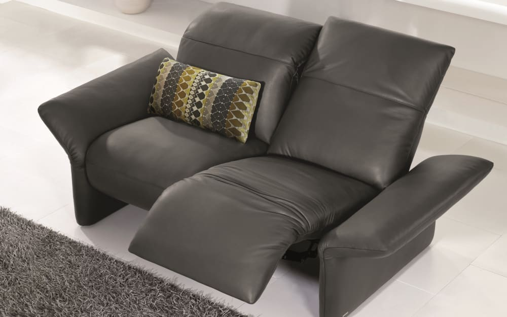 KOINOR Sofa Elena 2-sitzig in Leder A-India-Iron