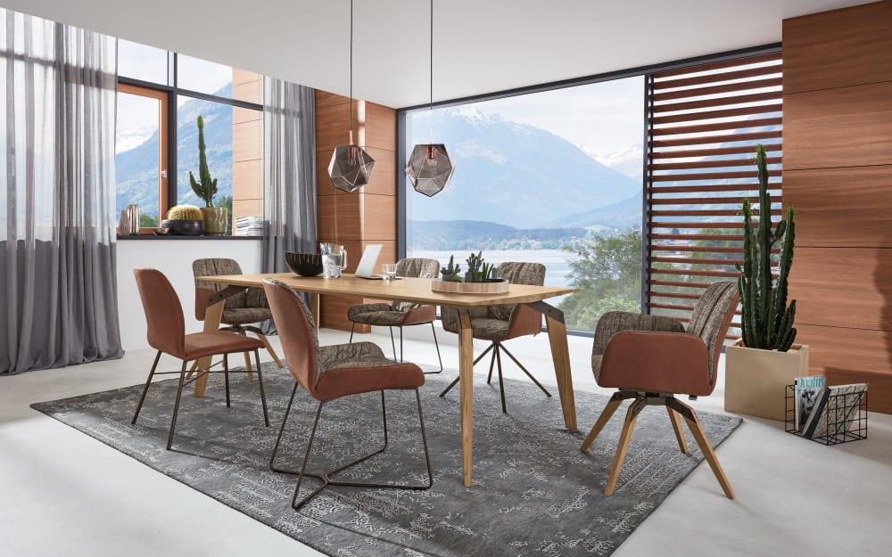 Musterring Stuhlgruppe Nando aus Asteiche/marron