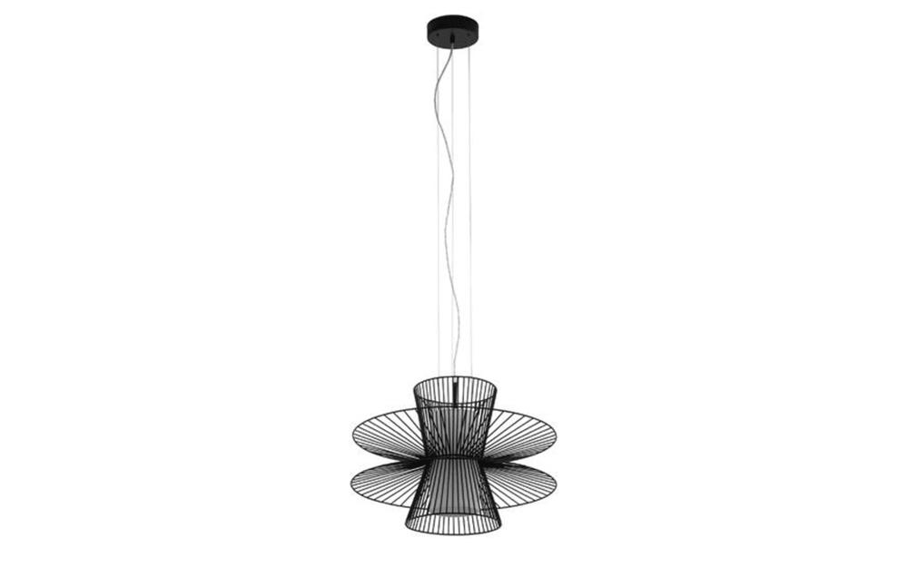 Eglo Pendelleuchte Carnaro in schwarz/weiß